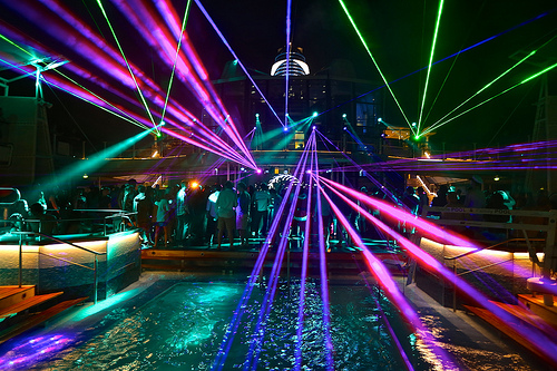 T60C2496 Lasers during The Gaslamp Killer on the SS Coachella 2012: Bahamas