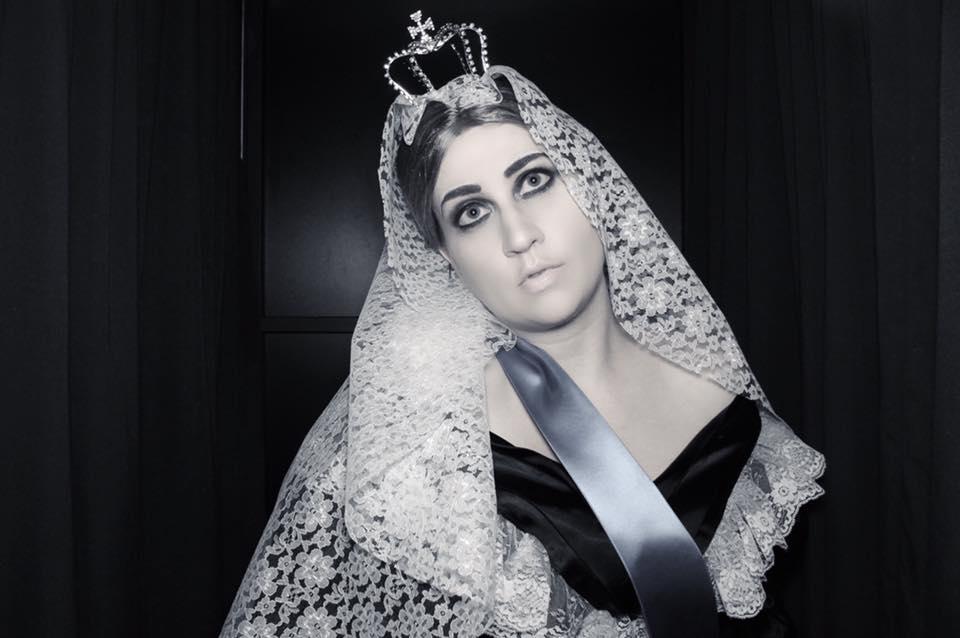 virginia jones as Queen Victoria costume goth