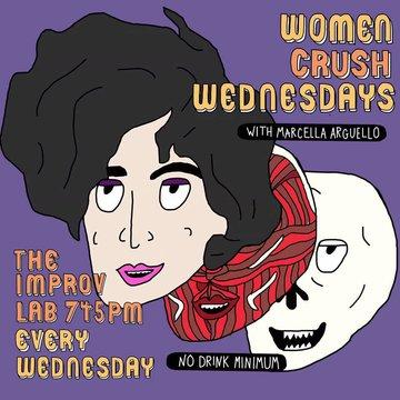 women crush wednesdays flyer by Jamie Loftus Marcella Arguello Virginia Jones