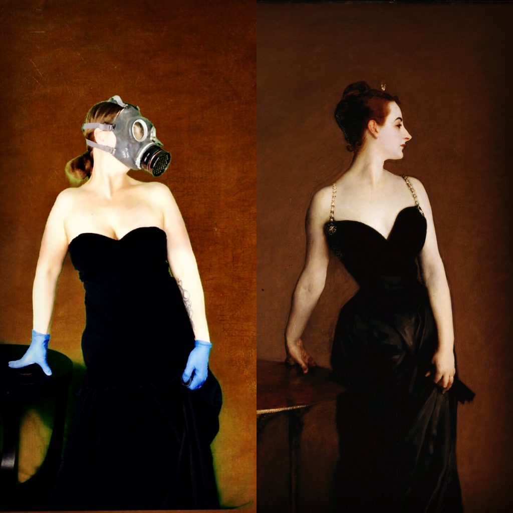 virginia jones as John Singer Sargent's Portrait of Madame X