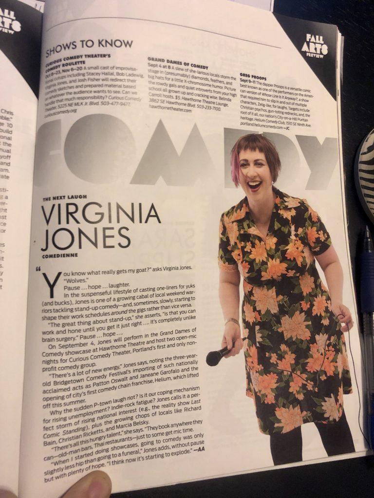 Virginia Jones in Portland Monthly magazine