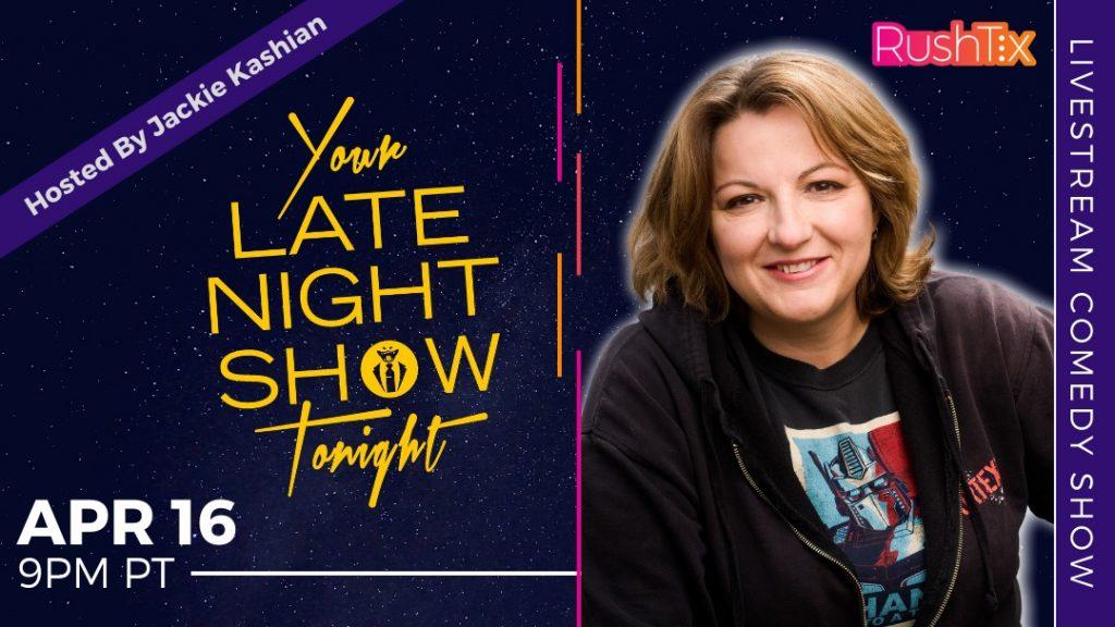jackie kashian on your late night show tonight